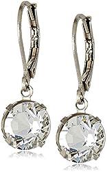 1928 Jewelry Swarovski Crystal Lever-Back Drop Earrings