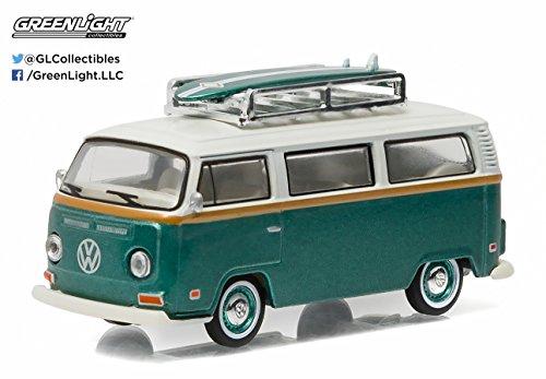1972 Volkswagen Type 2 (T2B) Green Van with surf boards 1/64 by Greenlight 29855 (Volkswagen Model Car compare prices)