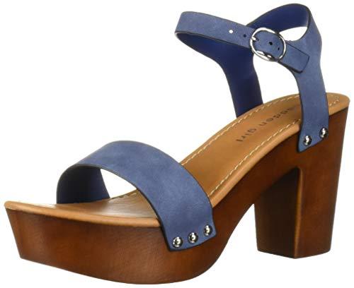 Madden Girl Women's LIFFT Heeled Sandal, Navy Paris, 6.5 M US]()