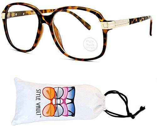 A172-vp Style Vault Flat Top Square Eyeglasses (U2782S Light Tortoise Brown/Gold-Clear, - Glasses Square Purple