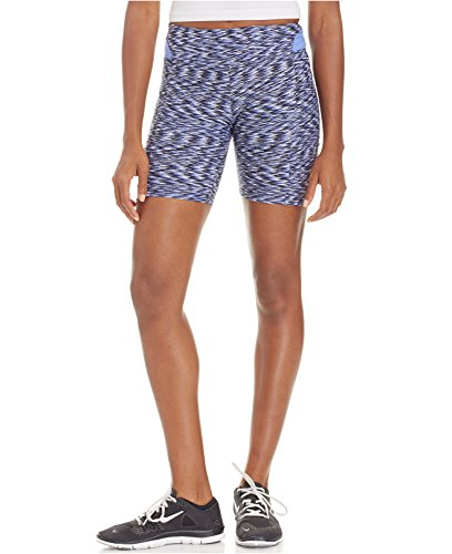 Calvin Klein Printed Ruched Biker Shorts (XS, Thistle Combo)