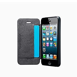 GHK - The Cross Lines PU Leather Full Body Case for iPhone 5/5S (Assorted Colors) , Gray