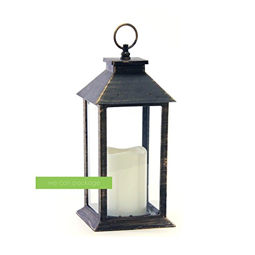 Brass Metal Lantern for Wedding Party Home Decorations Centerpieces - We Can Package (Autumn Brass Lantern)