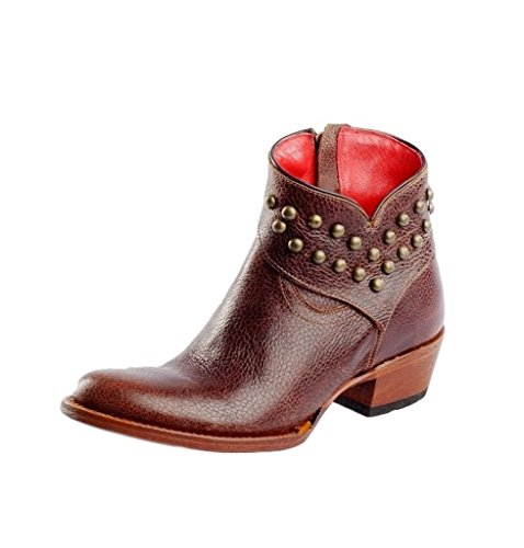 Macie Bean Western Boots Womens Come Heck High Water Cognac M3021 Cognac Tizzy ficuR