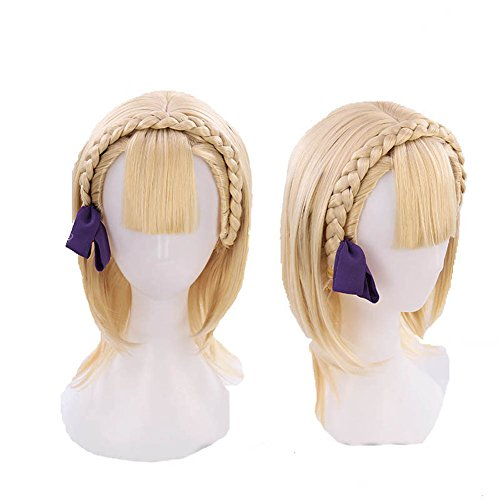 XCOSER SINoALICE Briar Rose Cosplay Wig Anime Costume Short Golden Hair Accessories ()