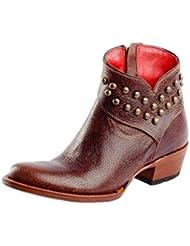Macie Bean Western Boots Women Come Heck High Water Short Cognac M3021
