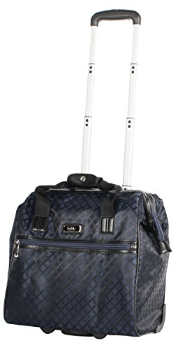 Nicole Miller New York Montana Collection Wheeled Cabin Tote (Navy) Spinner Wheeled Tote Bag