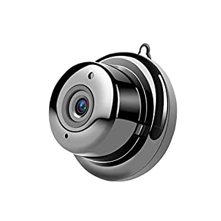 Mini Spy Camera Wireless Hidden Home WiFi Babysitter Camera for Home, Office Surveillance Recorder, Compatible with Android/iOS App (Black)
