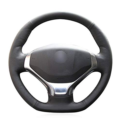 r CARBON FIBER LOOK R1 RED STEERING WHEEL COVER SUITABLE FOR PEUGEOT 3008 CAR