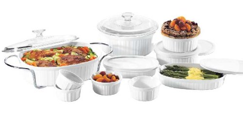 Corningware french white 17 piece bake and serve set buy for Kitchen 17 delivery