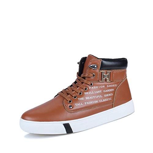 KMJBS Herrenschuhe/Herbst Stiefel Hohe Schuhe Sport Freizeit Skateboard-Schuhe Koreanische Stiefel und Martin Stiefel.Forti Brown