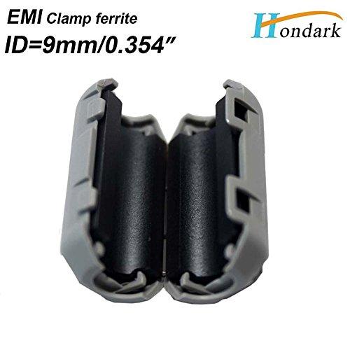 10ea//pack inner 7mm 9mm 5pcs each size HDMI USB digital power cable grey Noise cancel ferrite bead Clip EMI filter ferrite ring Hondark HK Limited