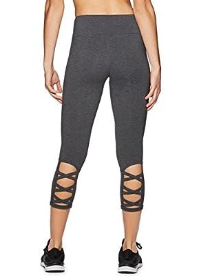 RBX Active Women's Cotton Strappy Side Yoga Capri Leggings