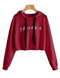 Baby Room Women's Crop Hoodie Long Sleeve Friends Pullover Sweatshirt