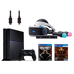 PlayStation VR Start Bundle 5 Items:VR Headset,Move Controller,PlayStation Camera Motion Sensor,PlayStation 4 Call of Duty Black Ops III,VR game disc PSVR Until Dawn: Rush of Blood