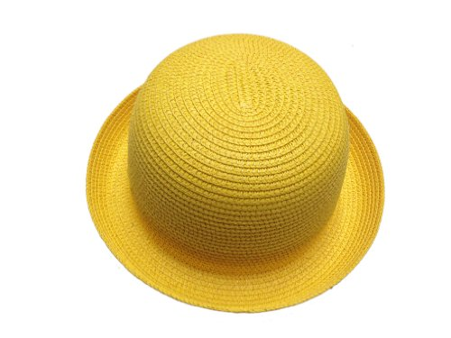 JTC Lady Straw Sun Hat Roll up Brim Bowler Visor Cap 11colors -