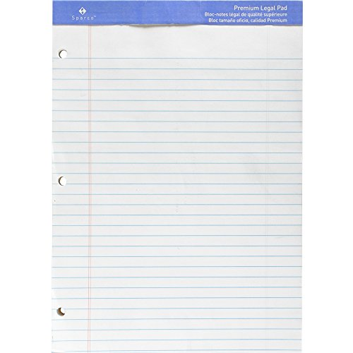 (SPRW10113HP - Sparco 3-Hole Punch Legal/Wide Ruled Pads)