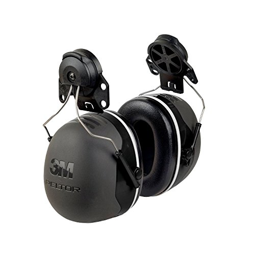 (3M Peltor XSeries CapMount Earmuffs, NRR 31 dB, One Size Fits Most, Black X5P3E (Pack of 1))