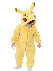 Tonwhar Unisex-Baby Animal Onesie Costume Cartoon Outfit Homewear (110:Ages 24-30 Months, Yellow)