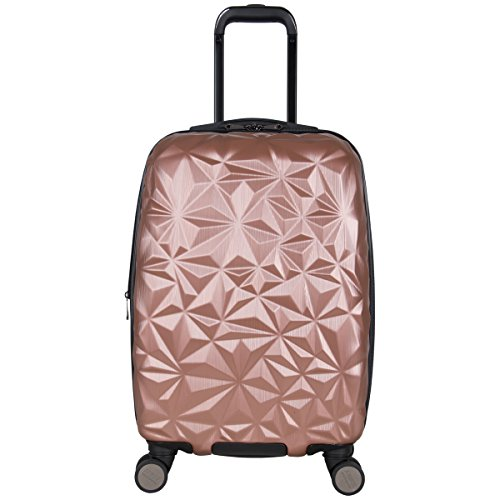 Aimee Kestenberg Women s Geo Chic 20 Hardside Expandable 8-Wheel Spinner Carry-on Luggage, Rose Gold