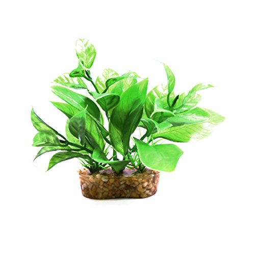 uxcell Green Plastic Mini Plant Terrarium Reptiles Habitat Decor Household Ornament w (House Lizard)