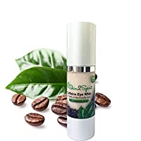 Skin2Spirit Caffeine Eye Whip - Cream - Natural - Made with Organic Ingredients - Great for Puffy Eyes & Dark Circles - with Hyaluronic Acid - Large 1 OZ Bottle from Skin2Spirit