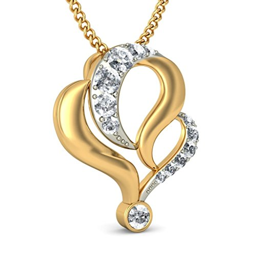 Or jaune 18 K 0,22 CT TW Round-cut-diamond (IJ | SI) Pendentif