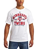 MLB Minnesota Twins Adult Short Sleeve Basic Tee (White)