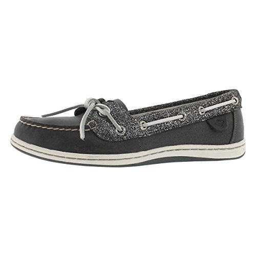 Blue Fish Boat Shoe - Sperry Top-Sider Women's Barrel Fish 2-Eye Boat Shoe Ashphalt 8 M US