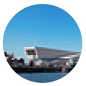 alfombrilla de ratón Vista panorámica del histórico muelle de Liverpool - ronda - 20cm
