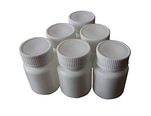 12Pcs White Empty Refillable Plastic Pill Bottles Capsule Bottle Easy Carry Solid Powder Medicine Bottles Pill Sample Tablet Container Holder Case(150ml/5oz)
