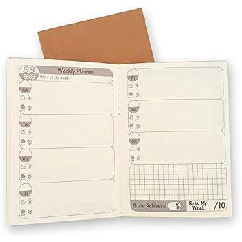 Amazon.com: Paquete de 3 recambios de papel para cuadernos ...