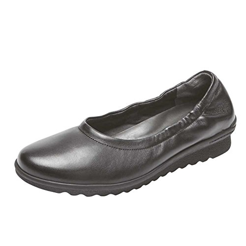 Shoes Black Leathe Chenole Women's Ballet Tf Rockport q1pf7p