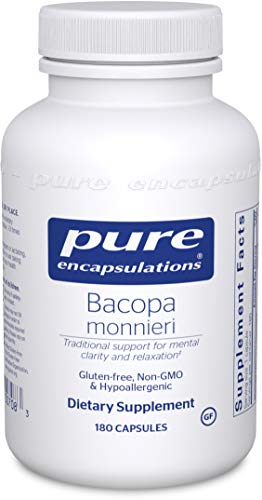 Pure Encapsulations - Bacopa Monnieri - Hypoallergenic Support for Memory, Mental Performance and Stress Management* - 180 Capsules