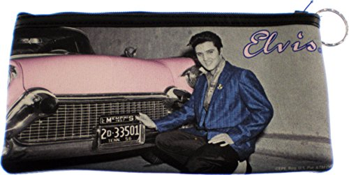 "Elvis Presley Pink Caddy Large Coin Purse [7x4"" - Black]"