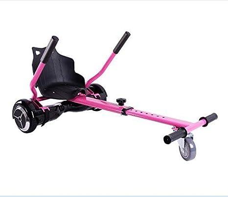 HOVERKART| Asiento silla KART color ROSA ajustable para todos los hoverboards (6,65,8,85,10 pulgadas). Muy robusto, ajustable a la estatura, envio urgente desde España: Amazon.es: Deportes y aire libre