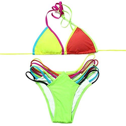 Traje de baño de las señoras Traje de baño de moda hechizos color bandage bikini bikini fractura spa traje de baño de playa Bikini Multi - color