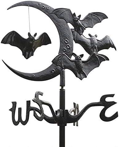 Gothic Bats Moon Weather Vane
