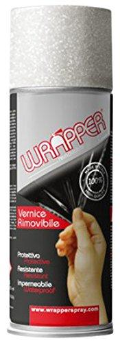 Quattroerre 16434 Wrapper Spray Vernici Rimovibili Tinta Speciale, Glitter Argento Quattroerre Italia