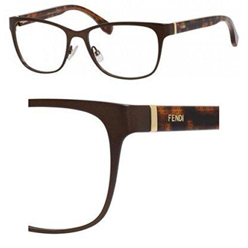 Fendi Montures de lunettes 0110 Pour Femme Ruthenium / Crystal H1R: Brown / Tortoise