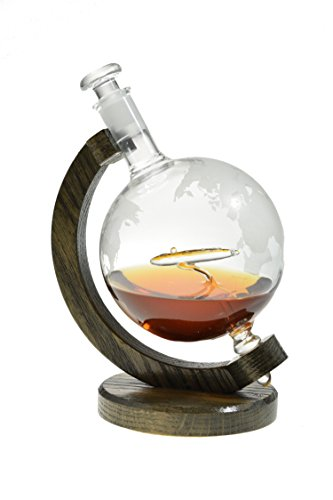 Submarine Etched Globe Liquor Decanter - Scotch Whiskey Decanter - 1000ml Glass Decanter for Alcohol - Vodka, Bourbon, Rum, Wine, or Tequila - Los Angeles Class Submarine by Prestige Decanters