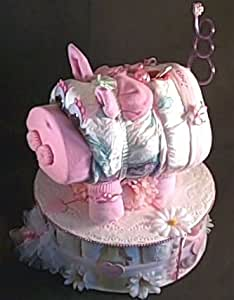 Amazon Com Pink Piggy Bank Baby Girl Shower Centerpiece