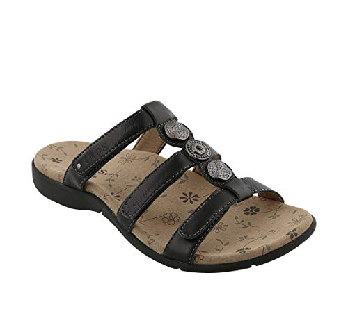 - Taos Footwear Women's Prize 3 Black Sandal 7 M US