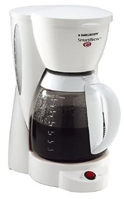 Black & Decker DCM2000W SmartBrew 12-Cup Coffeemaker, White