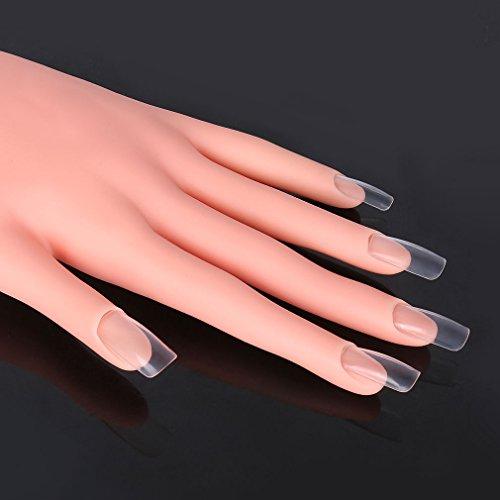 Clavuz Manicure Practice Hand Model Flexible Soft Plastic Foot For