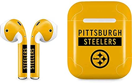 GAME TIME Pittsburgh Steelers Silicone Case Cover Compatible with AirPod Battery Case