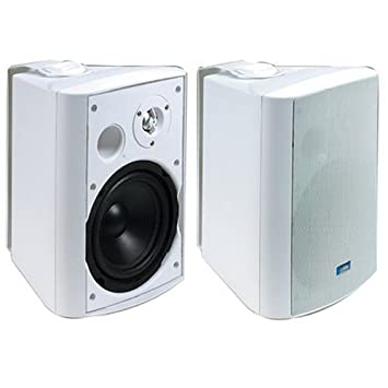 TIC ASP 120W Architectural Series 120 Watt Exterior Patio Speakers   White