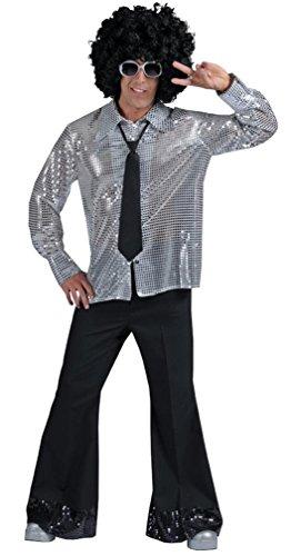[Men's Disco Pants (Black) Adult Accessory Size Large] (Disco Theme Costumes)