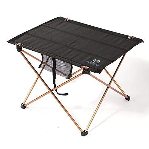 OTTAB TFBC- Folding Lightweight Fishing Beach Camping Outdoor Foldable Table Desk Black