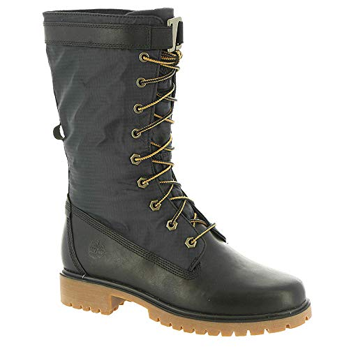 Timberland Women's Jayne Waterproof Gaiter Boot Black Full Grain/Black 8 B US (Timberland Smart)